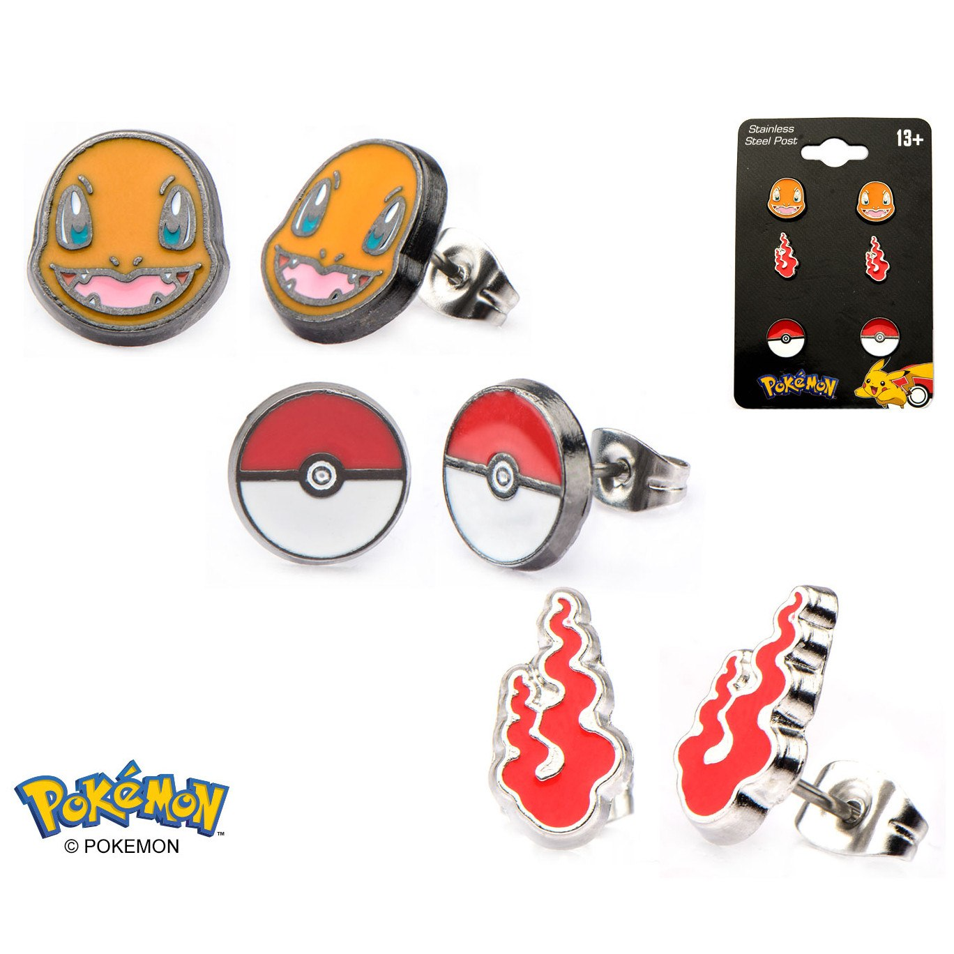 Charmander Earrings 3-Pack