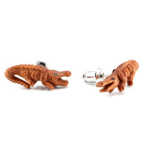 Crocodile Earrings by Urban Star