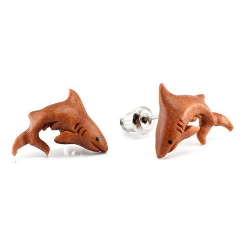 Great White Shark Earrings by Urban Star