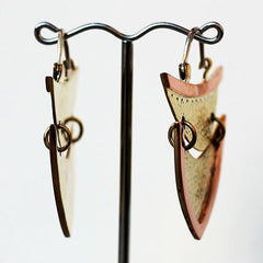 Earrings - Hammered Venus Earrings By Oracle Body Jewelry