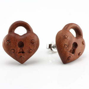 Heart Lock Earrings by Urban Star