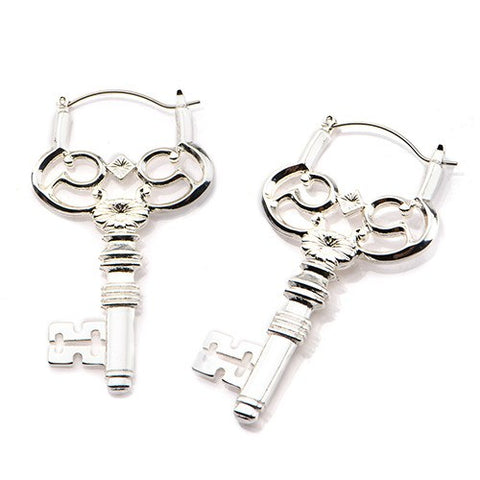 Key Tunnel Hoop Earrings