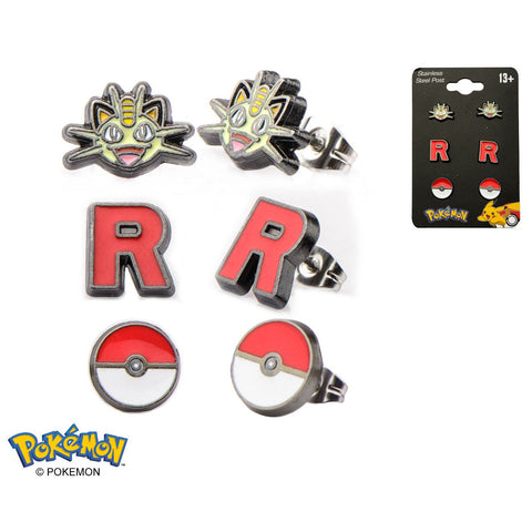 Meowth Earrings 3-Pack