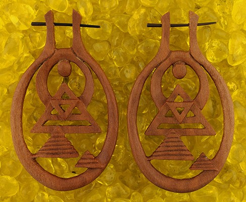 Pharaoh's Sun Earrings by Urban Star Organics