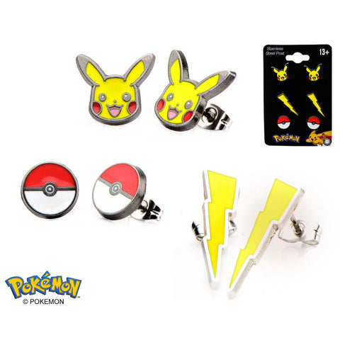 Pikachu Earrings 3-Pack
