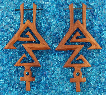 Pyramid Earrings by Urban Star Organics