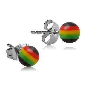 Rasta Stripe Earrings