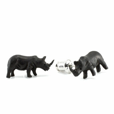 Rhino Earrings by Urban Star