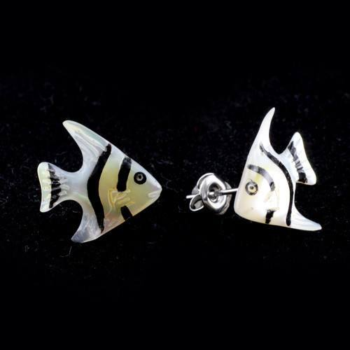 Silver Angelfish Earrings by Urban Star