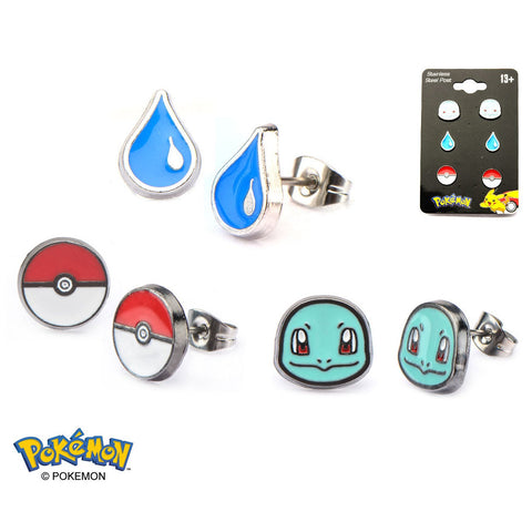 Squirtle Earrings 3-Pack