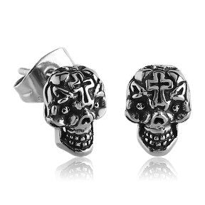Cross Skull Earrings