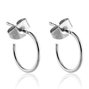 Stainless Steel Hoop Stud Earrings