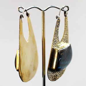 Earrings - Uptown Earrings W/ Labradorite By Oracle Body Jewelry