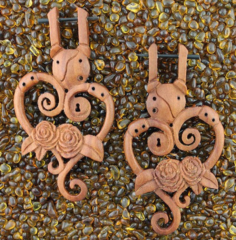 Victorian Rose Earrings by Urban Star