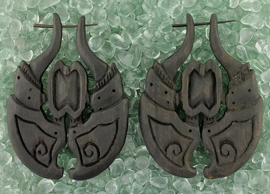 Earrings - Viking Shield Earrings By Urban Star Organics