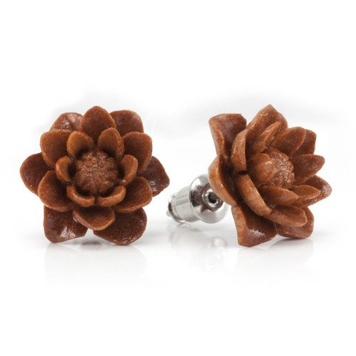 Water Lily Sabo Earrings by Urban Star Organics