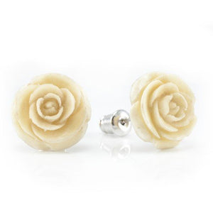 White Rose Earrings by Urban Star