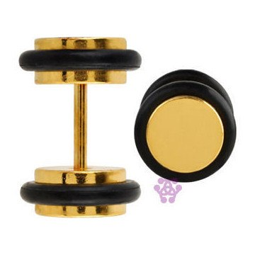 Gold Plated Fake Plugs