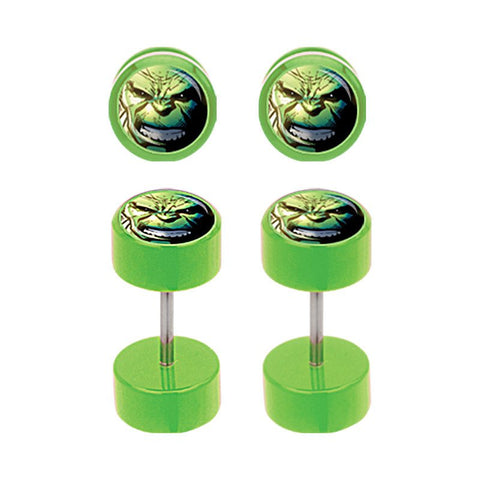 Acrylic Incredible Hulk Fake Plugs