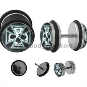 Skull & Cross Fake Plugs