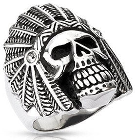 Stainless Apache Death Skull Ring
