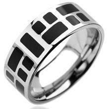 Stainless Black Mosaic Ring