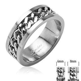Stainless Chain Center Ring