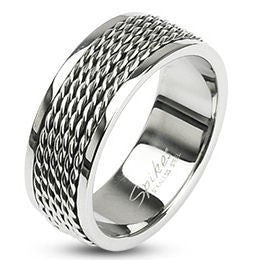 Stainless Chain Links Loop Ring