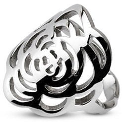 Cutout Rose Center Plate Ring