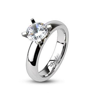 CZ Solitaire Prong-set Ring