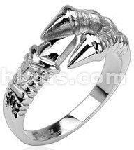 Stainless Dragon Claw Ring