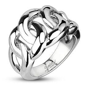 Stainless Eternal Link Ring