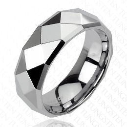 Tungsten Faceted Drop Down Edge Ring