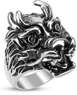 Stainless Ferocious Dragon Ring
