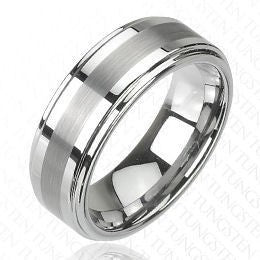 Matte Finish Center Stripe Ring