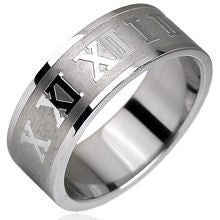 Finger Rings - Roman Numerals Ring