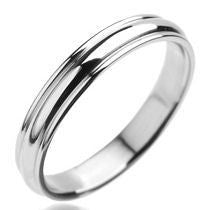 Stainless Steel Plain Grooved Ring - Tulsa Body Jewelry