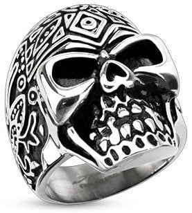 Stainless Sugar Skull Ring
