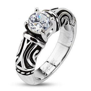 Tribal Decorative CZ Ring