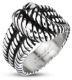 Triple Deux Rope Knot Ring