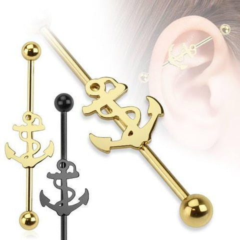 Nautical Anchor Industrial Barbell