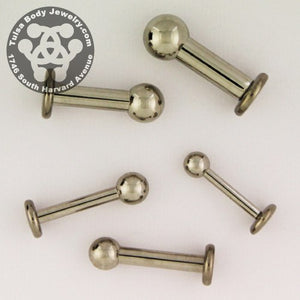 Stainless Steel 3-Piece Labret by Industrial Strength