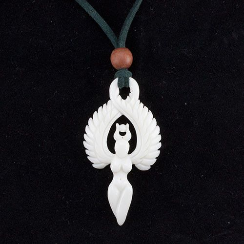 Winged Goddess Necklace by Urban Star Organics