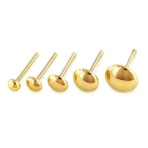 Nose - 18g Solid 14k Gold Dome Ends By NeoMetal