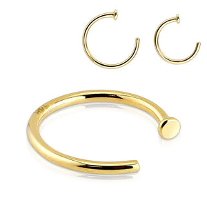 Nose Hoops Rings Tulsa Body Jewelry Tagged Material 14k Gold
