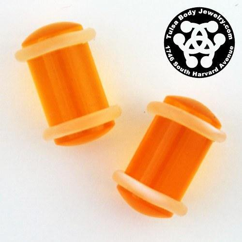 0g Acrylic Straight Plugs by Industrial Strength