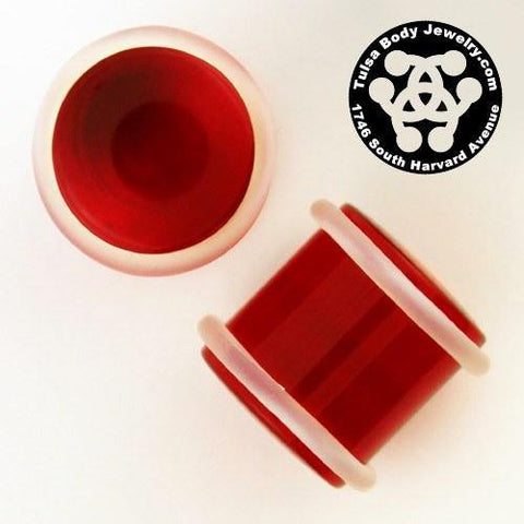 "1/2"" Acrylic Straight Plugs by Industrial Strength"