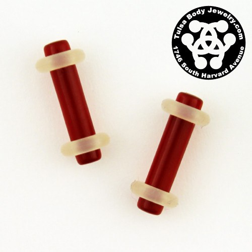 8g Acrylic Straight Plugs by Industrial Strength