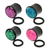 Acrylic Single Flare Glitter Plugs