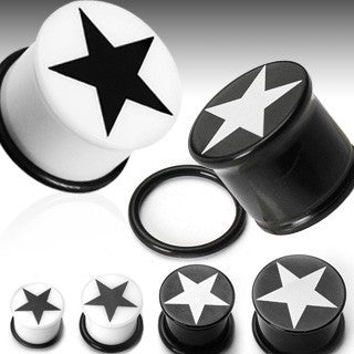 Acrylic Single Flare Star Plugs